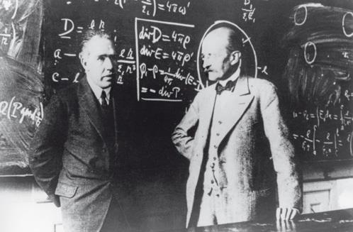 dx Max Planck a sx Niels Bohr